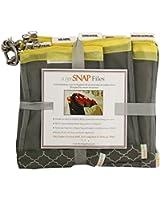 sugarSNAP Files A Set of 5 Mesh Diaper Bag Organizer Inserts gray+yellow