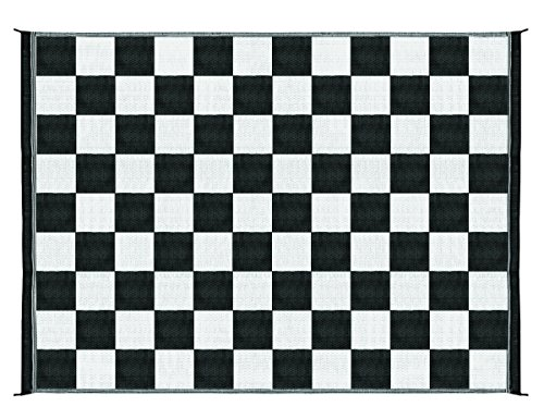 Buy Cheap Camco 42827 Reversible Outdoor Mat (9′ x 12′, Checkered)