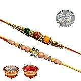 Best Set Of 2 Rakhi Mini S Rakhi With Mini Rudrakash Multicolor Colorful Designer Pearl Stone Buy Online Rakhi for Brother