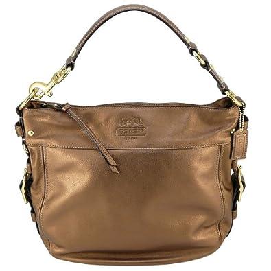Coach 12669 Zoe Large Leather Hobo Handbag Copper