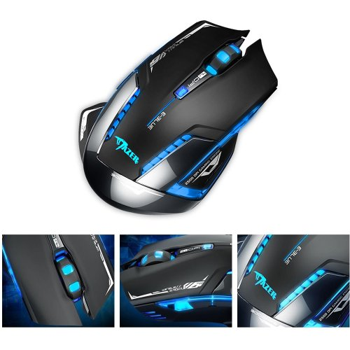 Image® E-3Lue E-Blue 2.4Ghz Mazer Ii 2500 Dpi Blue Led Backlit Wireless Optical Gaming Mouse
