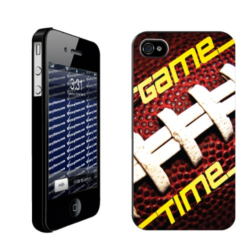 Football iPhone Design Game Time   iPhone Hard Case   BLACK Protective iPhone 4/iPhone 4S Case