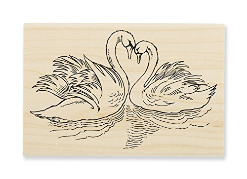 Stampendous Swan Pair Rubber Stamp