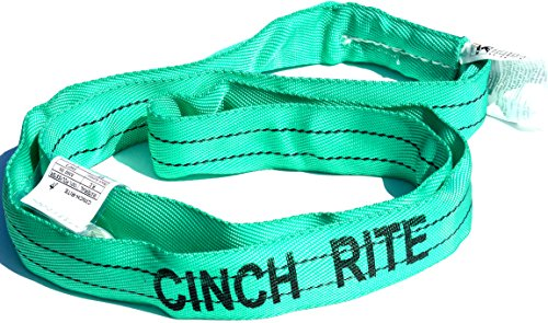 3 Ft. Green Polyester Endless Roundsling 5,300Lb Vertical Load Limit Round Sling