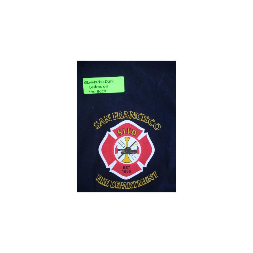 San Francisco Fire Department Tee Shirt Cross Large On Popscreen