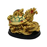 Divya Mantra Feng Shui Dragon Headed Tortoise With Baby for Overall Success