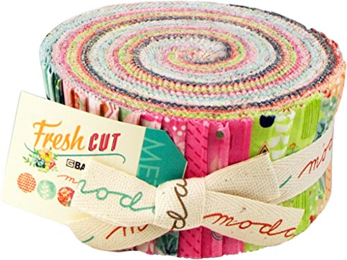 Moda Fresh Cut Jelly Roll, 40 2.5x44-inch Cotton Fabric Strips