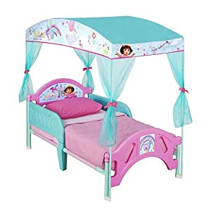 Amazon Dora The Explorer Toddler Canopy Bed Toys Amp Games