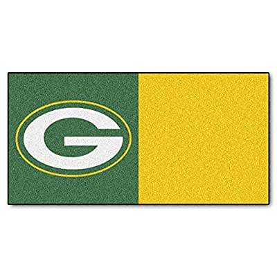 FANMATS NFL Green Bay Packers Nylon Face Team Carpet Tiles