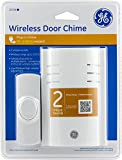 GE Plug-In Wireless Door Chime Kit with One Wireless Push Button included. No Wiring Needed. Wireless Range is up to 150 feet, Connect up to FOUR Ge Wireless Push Buttons at Once! (Wireless PLUG IN Door Chime)