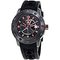 Swiss Military Rallye Automatic Black Dial Mens Watch (Stainless Steel)