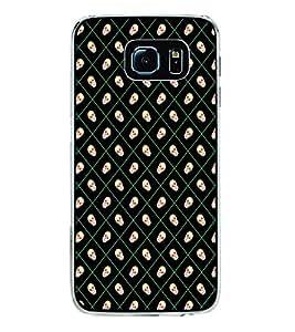 Skull Pattern 2D Hard Polycarbonate Designer Back Case Cover for Samsung Galaxy S6 Edge :: Samsung Galaxy S6 Edge G925 :: Samsung Galaxy S6 Edge G925I G9250 G925A G925F G925FQ G925K G925L G925S G925T