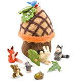 Felt Woodland Animals with Acorn House