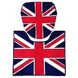 トイレカバー&トイレマット 2点セット UK FLAG (ユニオンジャック) ウォシュレットサイズ(洗浄機能付きタイプ) イギリス 国旗 トイレ ファブリック セット インテリア 雑貨 おしゃれ