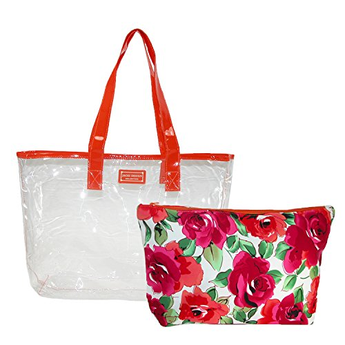 jacki-design-womens-tropicana-2-piece-tote-bag-set-orange-white