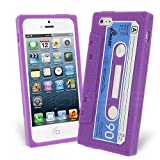 Celicious Purple Retro Cassette Tape Silicone Skin Case for Apple iPhone 5s / iPhone 5 Apple iPhone 5s Case Cover