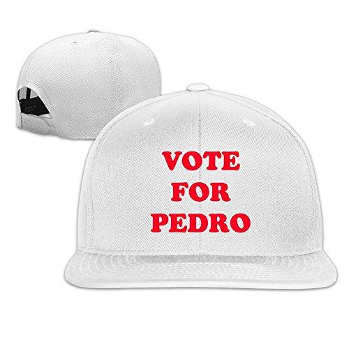 Custom Unisex Vote For Pedro Logo Casual Summer Caps White (Napoleon Dynamite Vote For Pedro)