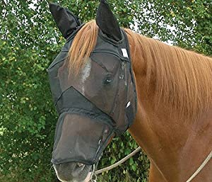 Cashel Quiet Ride Riding Fly Mask Long With Ears Horse Size