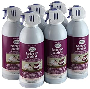 simply spray upholstery fabric spray paint 6 pack plum. Black Bedroom Furniture Sets. Home Design Ideas