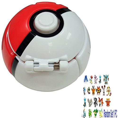 """TANG imp Pokemon Ball Pokémon Palla Gettare N' Catturare Pokeball Sfera Giocattoli Del Regalo Con Figure in Miniatura a Caso 3.2"""" Diametro"""