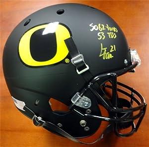LaMichael James Autographed Hand Signed Oregon Ducks Black Matte Full Size Helmet... by Hall of Fame Memorabilia