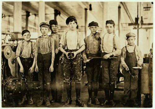 Photo Ivey Mill Company, Hickory, N.C. Some Doffers And Sweepers. Plenty Of  Them