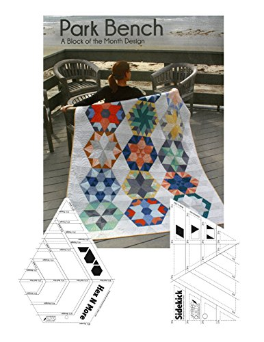 Hex n more Ruler, Sidekick Ruler, And Park Bench Block of Month Quilt Project Book 3 Piece Set