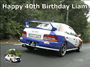 """10"""" x 7.5"""" Rallying and Rally Racing Edible Image Cake Toppers"""