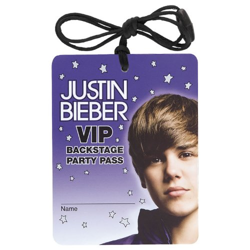 Justin Bieber VIP Necklaces / Favors (4ct) (Justin Bieber Party Pack compare prices)