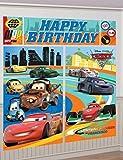 DISNEY CARS Scene Setter HAPPY BIRTHDAY Party wall decor Mater McQueen Francesco