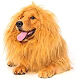 Dogloveit Large Pet Dog Costumes Lion Wigs Mane Hair Festival Party Fancy Dress Clothes Costumes (Please be aware of fake products from other sellers)
