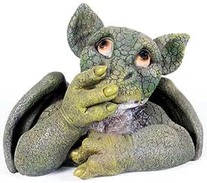 Kelkay 4911 Say Nothing Green Dragon Statue