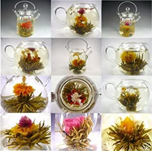 10 Blooming Flower Tea - 5 Jasmine and 5 Green