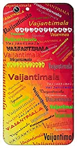 Vaijantimala (Popular Girl Name) Name & Sign Printed All over customize & Personalized!! Protective back cover for your Smart Phone : Samsung Galaxy S6 Edge