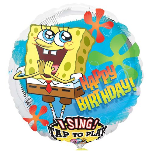 Mayflower Distributing - Spongebob Birthday Singatune Foil Balloon