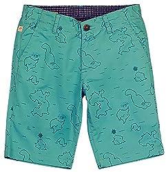 Aristot Boys' 8 Years Cotton Shorts (01B024A, Green)