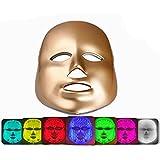 新型 7色LEDマスク 光エステ LED美顏 マスク 7色光IPL フォトマス 家庭用LED美顔器, ゴールデン