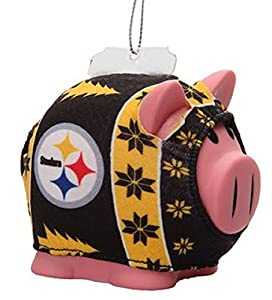 Pittsburgh Steelers NFL Ugly Sweater Piggy Bank Christmas Holiday Ornament at Steeler Mania
