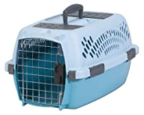Petmate Pet Taxi Kennel, For Small Pets 7 to 9 Inches Tall, Blue Air/Spa Teal