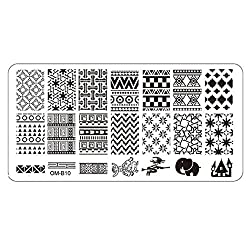 Kingfansion 1PCS Nail Art Image Manicure Stamp Template DIY Template Tool Stamping Plates (10)