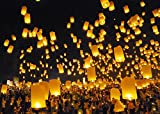 Sugarman International Ltd. Best Sky Lanterns - Colorful Flying Chinese Lanterns (Pack of 50)