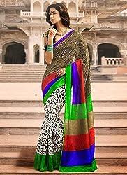 Pruthu Printed Fashionable Bhagalpuri Silk Saree