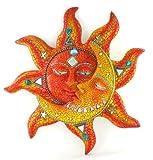 Celestial Sun Moon Mosaic Wall Art Hanging