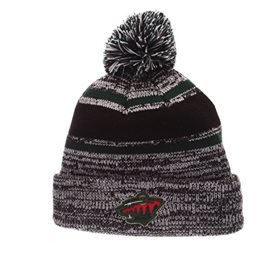 NHL Minnesota Wild Men's Granite Knit, One Size, Black/Gray (Minnesota Wild Zephyr compare prices)