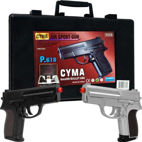 WhetstoneTM CYMA P.618 Airsoft Pistol Dueling Kit - Includes 2 Guns!     Whetstone