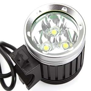 COOLEREclairage Avant Vélo / Lampe Frontale Rechargeable étanche Antichoc 3 × CREE XM-L T6 LEDs 3600ML Haute Puissance Pour Vélo / VTT / Enduro/ Cyclisme