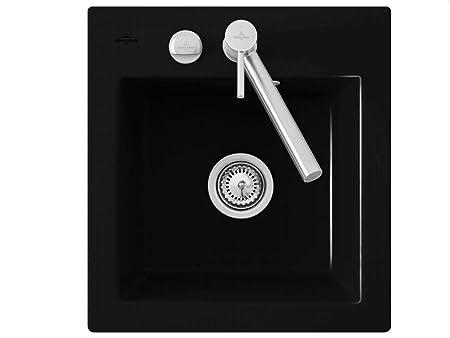 Villeroy & Boch Subway Chromit Ceramic Sink Flush Surfaces Flat Black XS