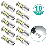 Sunnest Super Bright 1156 LED Light bulb, 12V 7506 1003 1141 18-SMD LED Bulbs For Car Rear Turn Signal lights Interior Brake Light Lamp Backup Lamps RV Camper White 10-pack