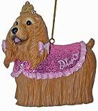 December Diamonds Diva Cocker Spaniel Hand Painted & Glittered Christmas Ornament