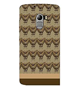 PrintDhaba Owl pattern D-1860 Back Case Cover for LENOVO VIBE X3 LITE (Multi-Coloured)